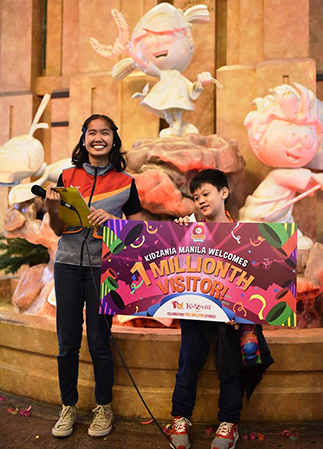 Carlo Santos is KidZania Manila's lucky one-millionth visitor