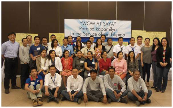Davao employees during one of the wow and saya session