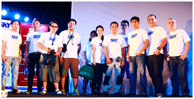 Part of the SKY team that brought 'Wow at Saya' to Tacloban after typhoon Yolanda
