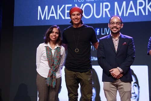 The three speakers who helped connect inspire and empower young attendees of the 1st TFCU Talks in Manila Make Your Mark