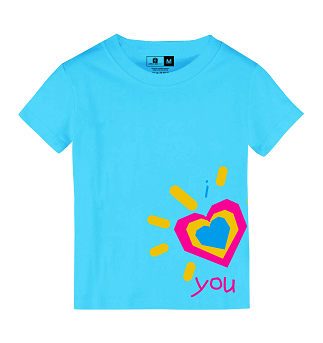Dear Heart Shirts i heart you blue (Kid's shirt, P350 Adult's shirt, P350)
