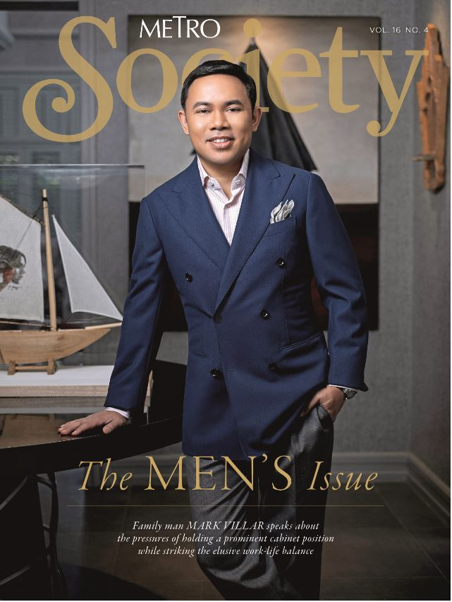 DPWH Sec. Mark Villar covers the 'Metro Society' Men's Issue