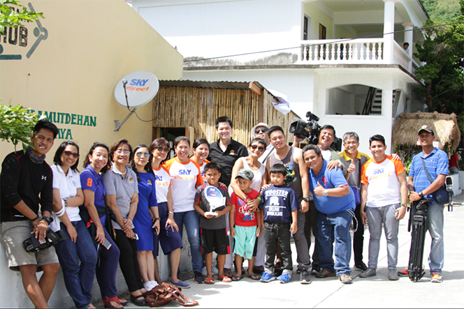 Basco Central Elementary School in Batanes receives a SKYdirect prepaid kit in June 2017