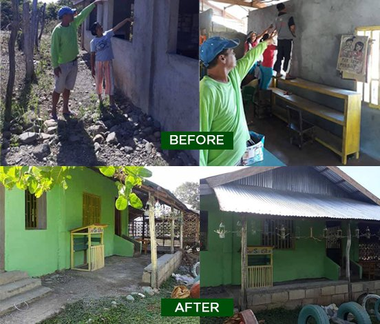 Bantay Kalikasan, CFMC team up to repair daycare center
