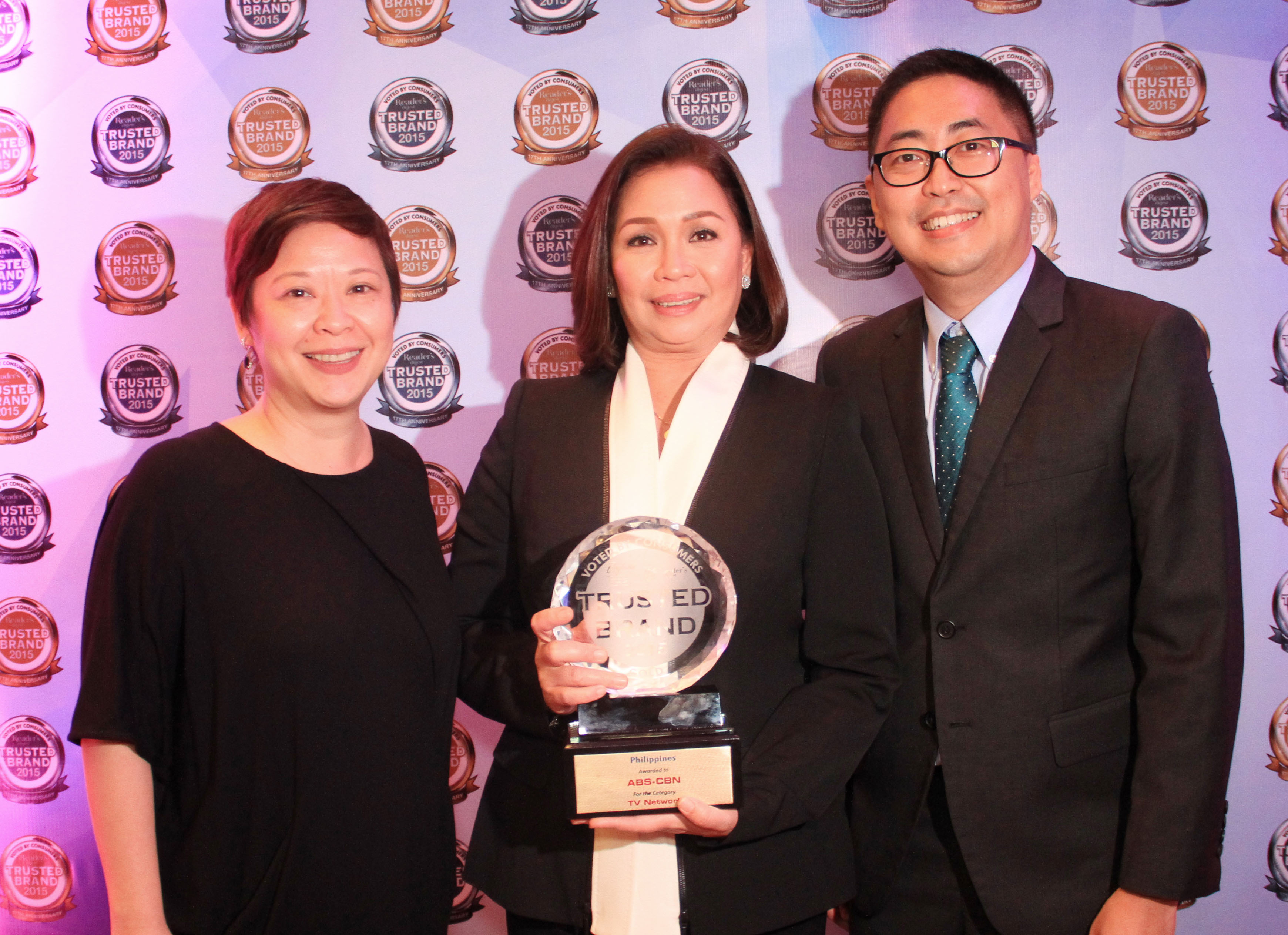ABS-CBN, Asian Eye win Reader's Digest Trusted Brand awards anew