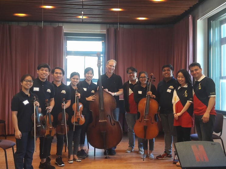 Coaching with Peter Winograd (center) of the American String Quartet at Manhattan School of Music