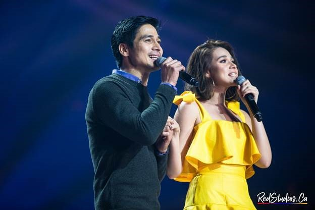 "Queen of Primetime Bida Bea Alonzo and Ultimate Heartthrob Piolo Pascual render a duet that drives the audience to feel the absolute ""kilig"" (romantic excitement). (Photo courtesy of Red Andal.)"