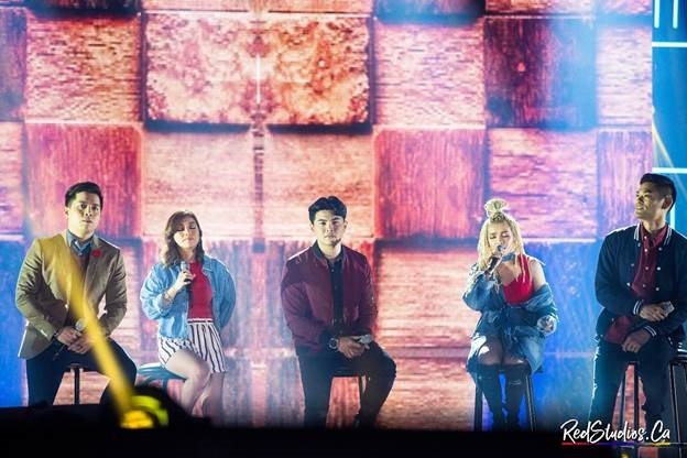 ASAP Soul Sessions (Left-Right): Jason Dy, Kyla, Daryl Ong, KZ, and Jay-R bring the crowd to reminisce as they deliver a soul-searing, heart-tugging medley of love songs. (Photo courtesy of Red Andal.)