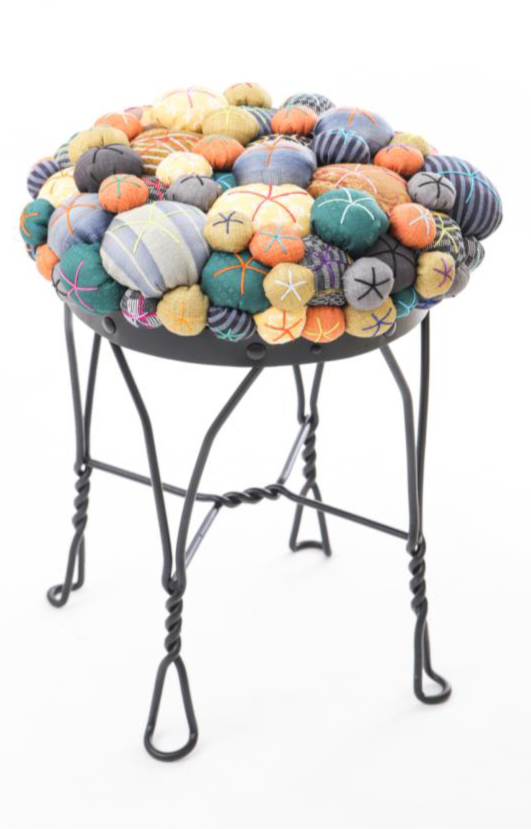 Lucky Buttons Stool from Good Luck, Humans