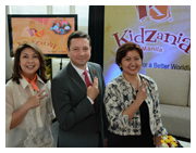 "Say ""Kai!"" Play Innovations President and CEO Maricel Pangilinan-Arenas, KidZania Global Chief Operating Officer Andres Fabre, and Play Innovations Industry Partners Director Cecille L. Mariño announced the opening of KidZania Manila in a press luncheon attended by business and education journalists."