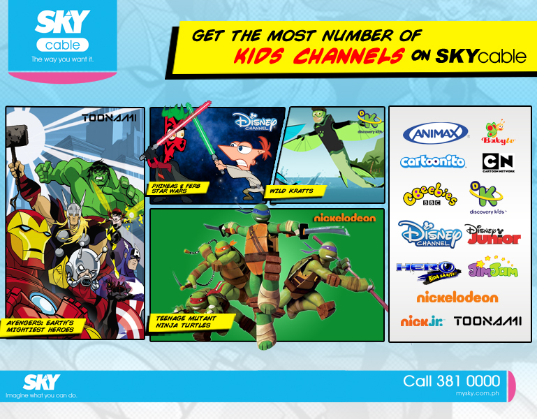 Get the most number of kids channel on SKYcable!