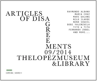 'Articles of Disagreements' opens on September 18