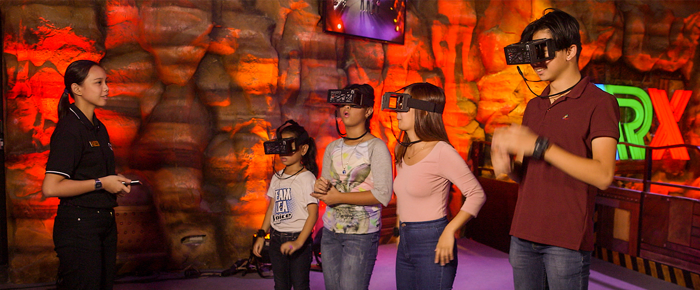 Kapamilya guests learn the technology of the augmented reality game at ARX before they cross the threshold of fantasy and defeat virtual monsters