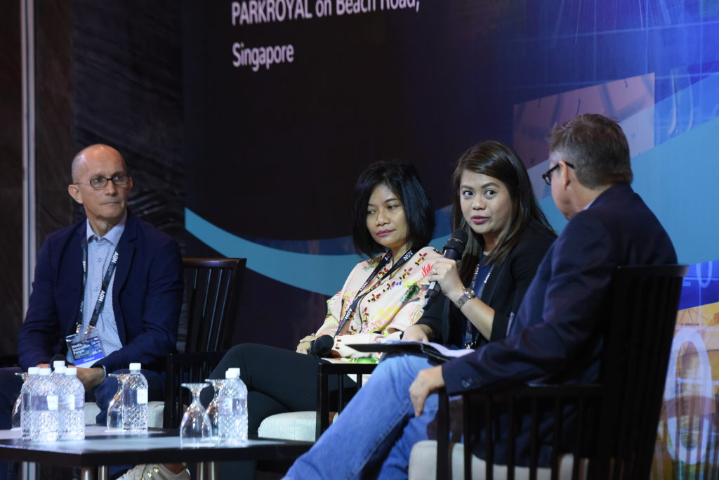Digital media division OIC head Elaine Uy-Casipit (3rd from left) discusses ABS-CBN's digital transformation, among others, at the Singapore event