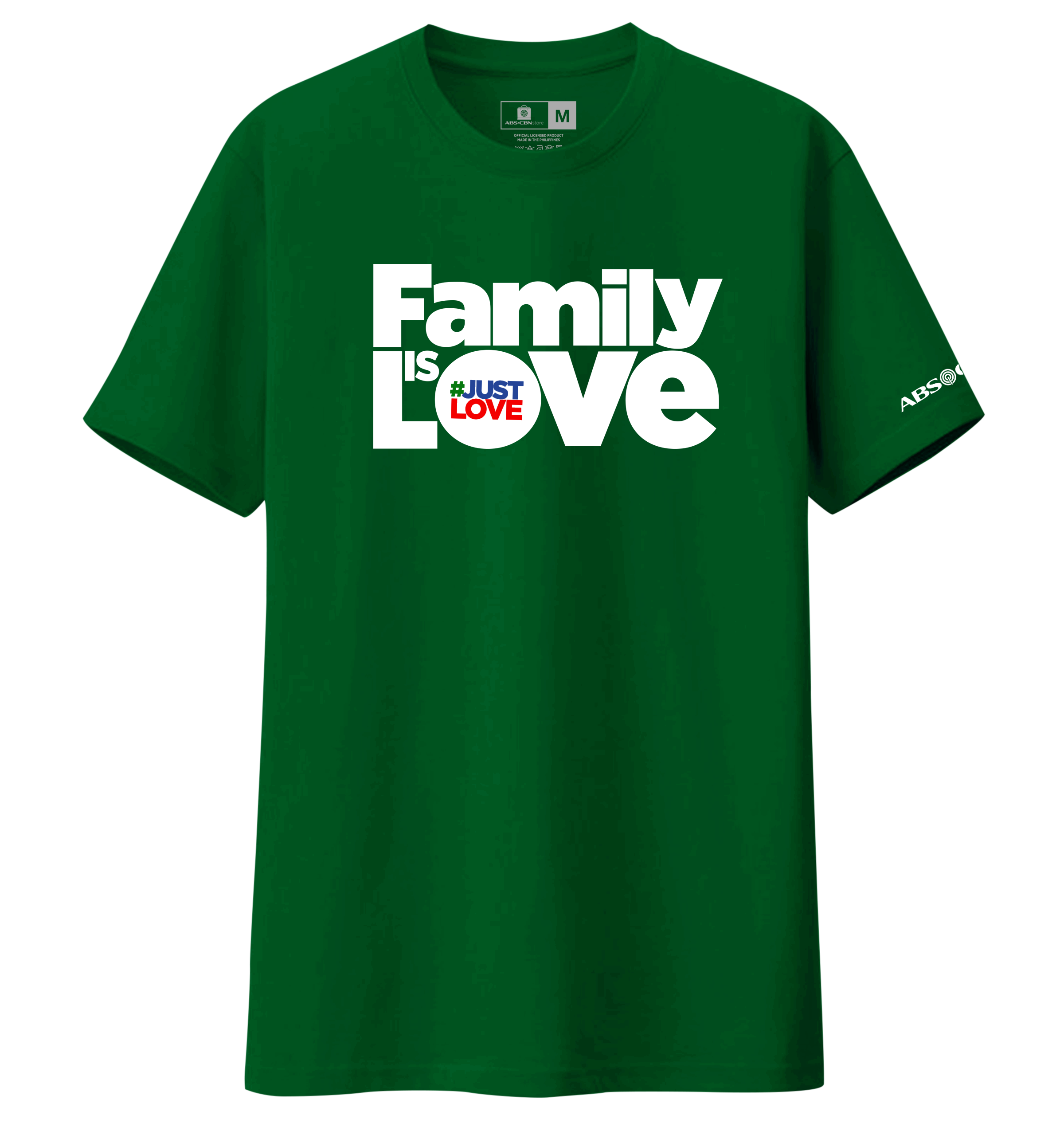 Family is Love Christmas Shirt - Green