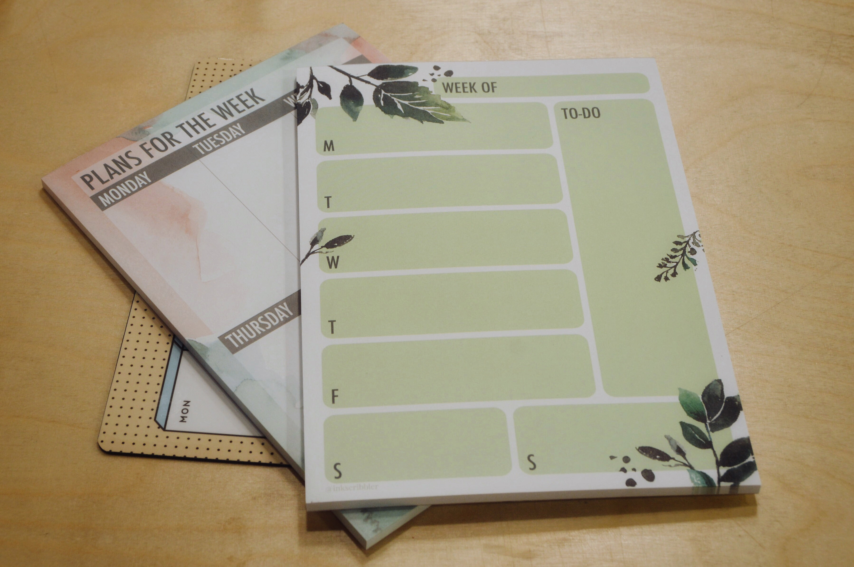 Weekly planner pad: Ink Scribbler