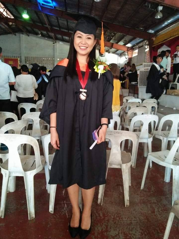 Sheila Mae Manalo during her graduation from PUP