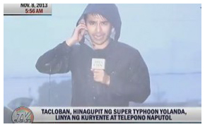 Screen grab from Atom Araullo and crew's report that made a global splash