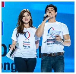 Angel Locsin and Piolo Pascual were among the headliners of the 'Tulong Na, Tabang Na, Tayo Na' benefit concert