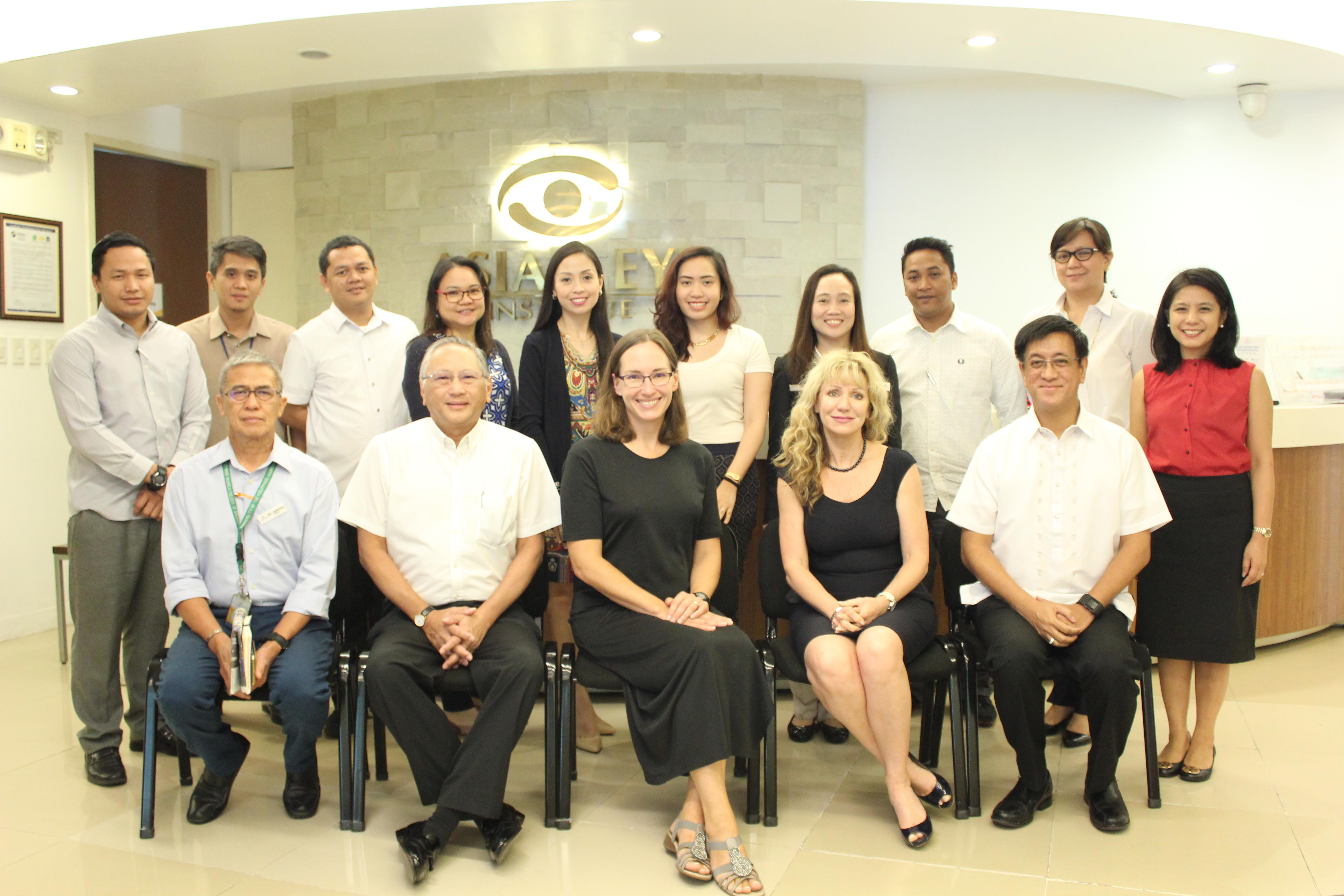 The Asian Eye team, led by president Benjamin Liboro (seated, 2nd from left) and VP Alwin Sta. Rosa (seated, rightmost), with Accreditation Canada auditors
