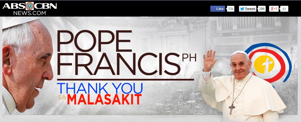 ABS-CBNs Pope Francis Thank You sa Malasakit campaign