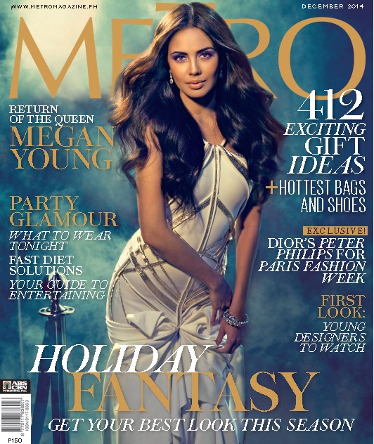 Miss World Megan Young on the cover of Metro Holiday Fantasy issue!