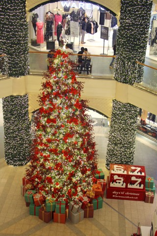 The giant Christmas tree at the North Court