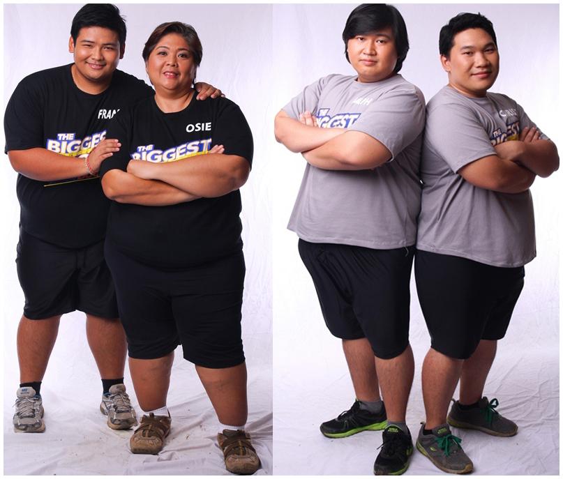 Biggest Loser Pinoy Edition Doubles pair (L-R) - Bagong bigateam Francis and Osie; Du Brothers Ralph and Christian