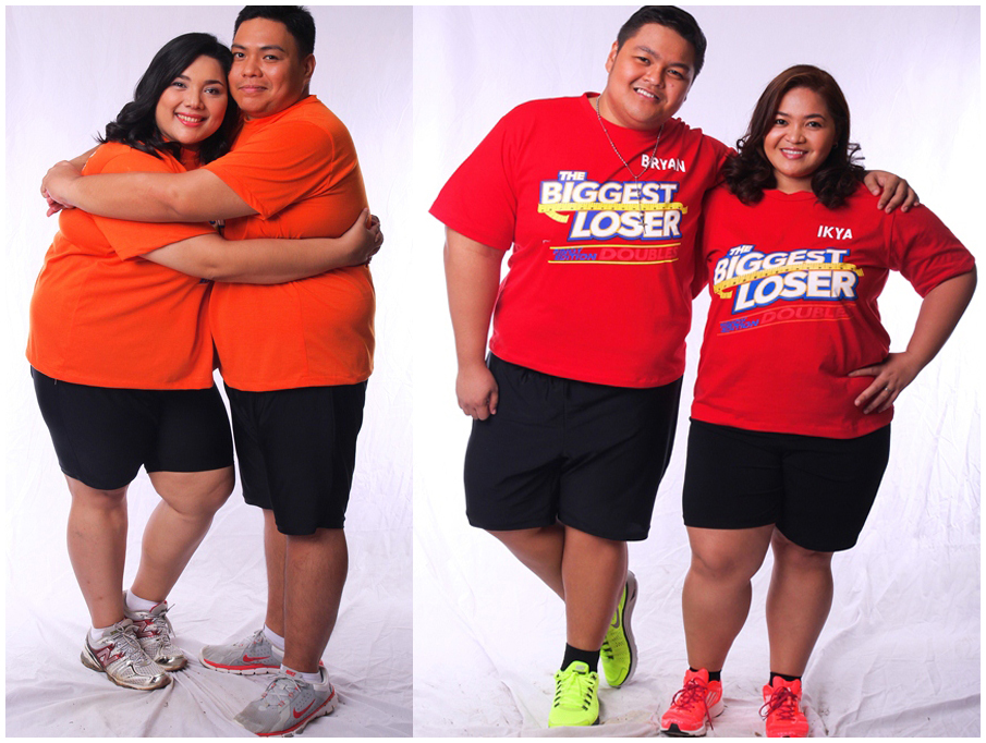 Biggest Loser Pinoy Edition Doubles pair(L-R) - Mag-asawang Kayen at Carl; Magkapatid na Bryan at Ikya