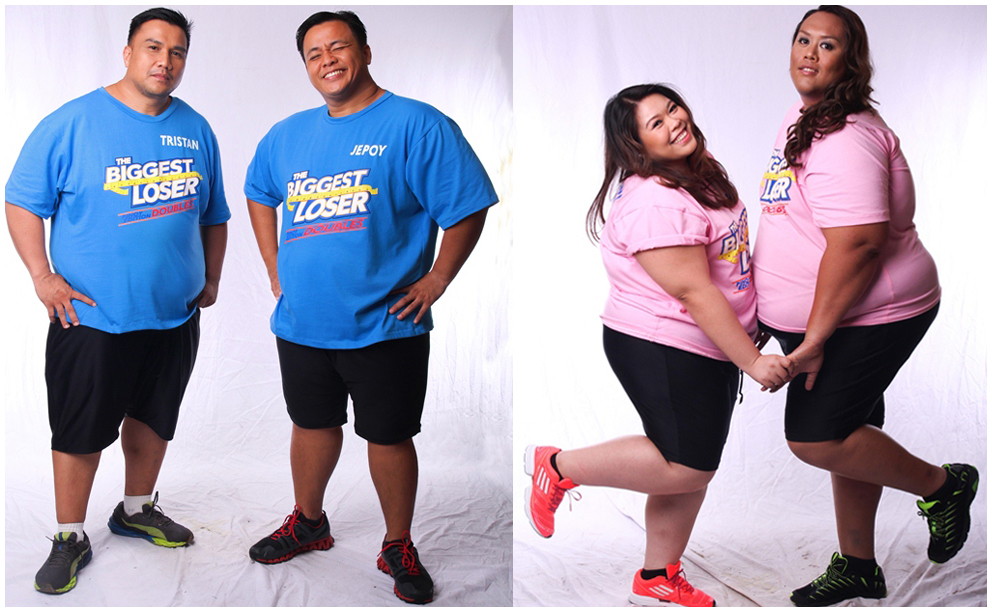 Biggest Loser Pinoy Edition Doubles pair(L-R) - Magtropang Tristan at Jepoy; Officemates Mai and Bien