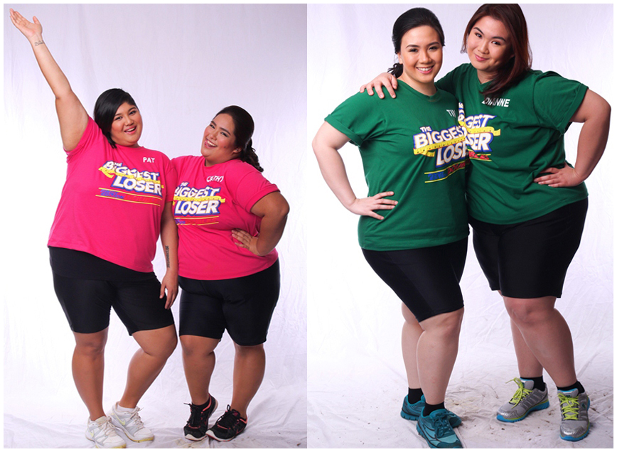 Biggest Loser Pinoy Edition Doubles pair (L-R) - Showbiz royalties Pat at Cathy; Sisters Tin and Dianne