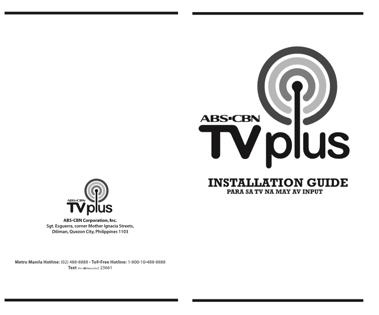 ABS-CBN TVplus installation guide