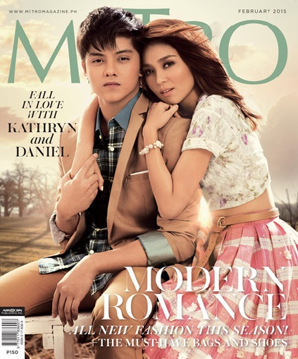 Kathryn and Daniel land their first fashion cover together in Metro Magazine