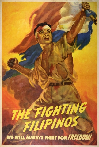 The Fighting Filipinos. American propaganda poster 1943
