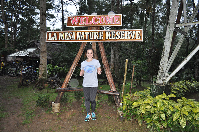 Weng Magaling of SKY at the La Mesa welcome sign