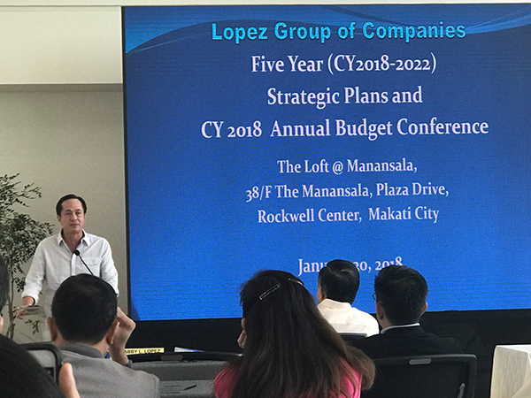 Lopez Holdings vice chairman and ABS-CBN chairman Eugenio Lopez III