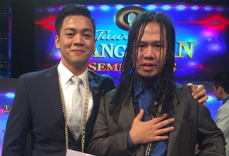 Tawag ng Tanghalan Year 2 grand finalists Sofronio Vasquez and Tuko Delos Reyes