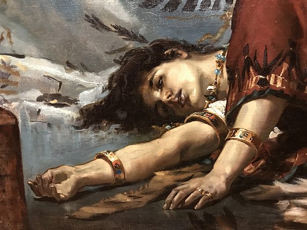 Detail from Luna's 1881 work, 'La Muerte de Cleopatra,' from collection of the Prado Museum