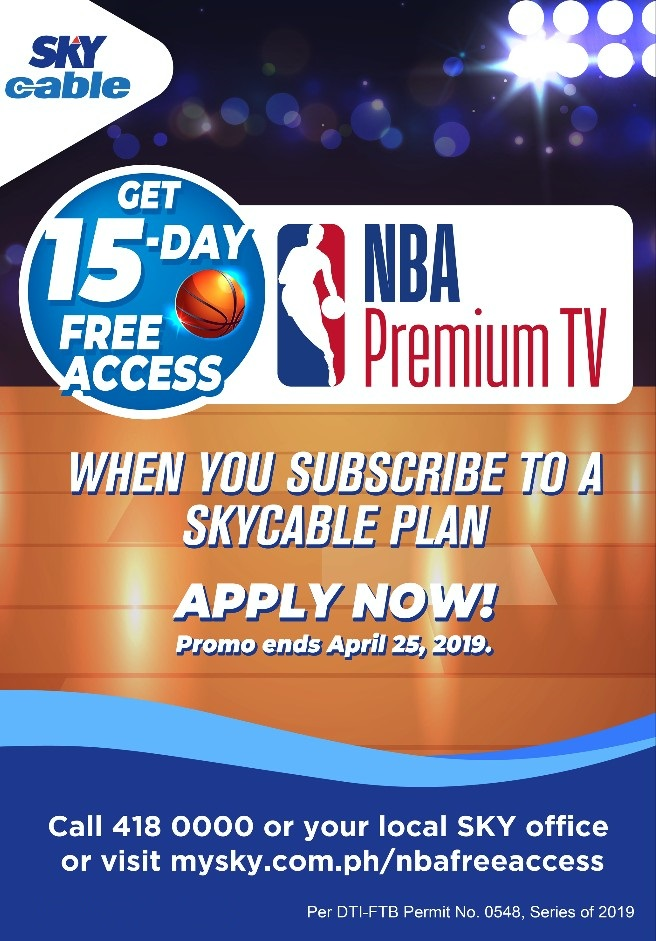 SKY brings back NBA Premium TV with promos