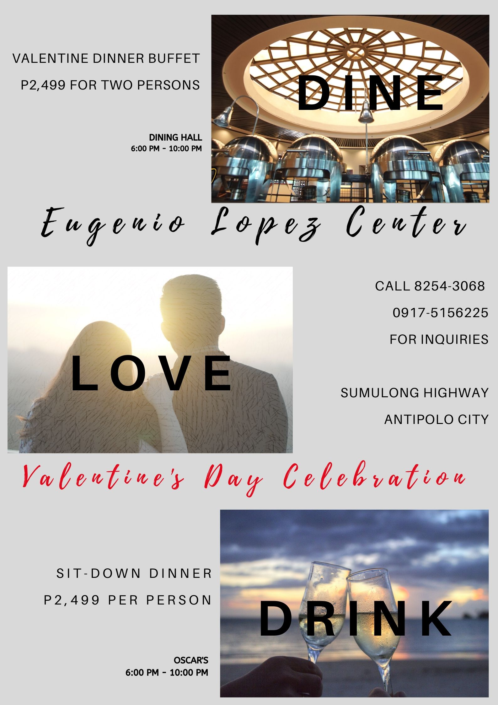 Dine, love, drink at ELC