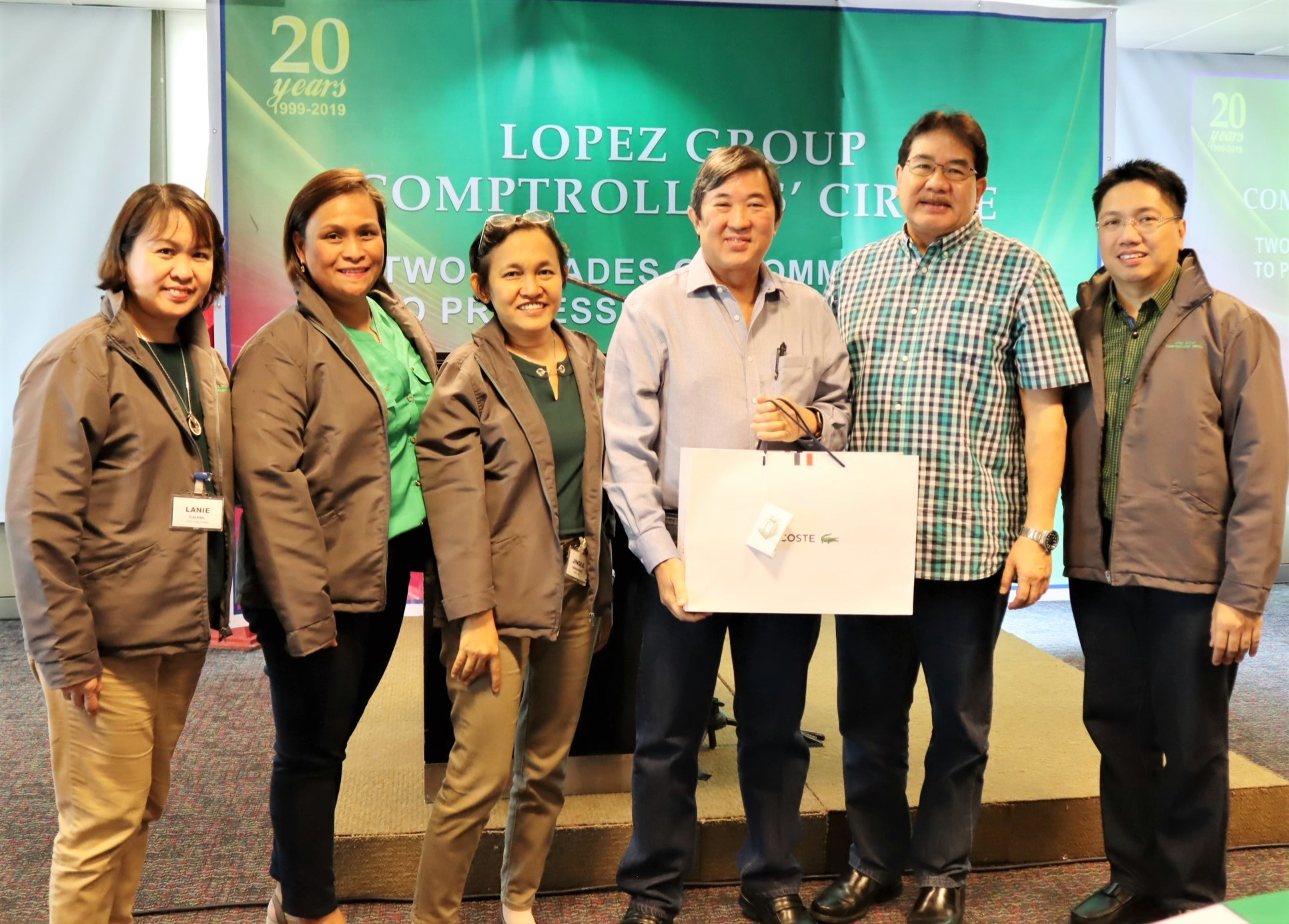 The Comptrollers' Circle core team with FPRC president Cary Lopez and Lopez Holdings Corporation president, COO & CFO Salvador G. Tirona (4th and 5th from left)