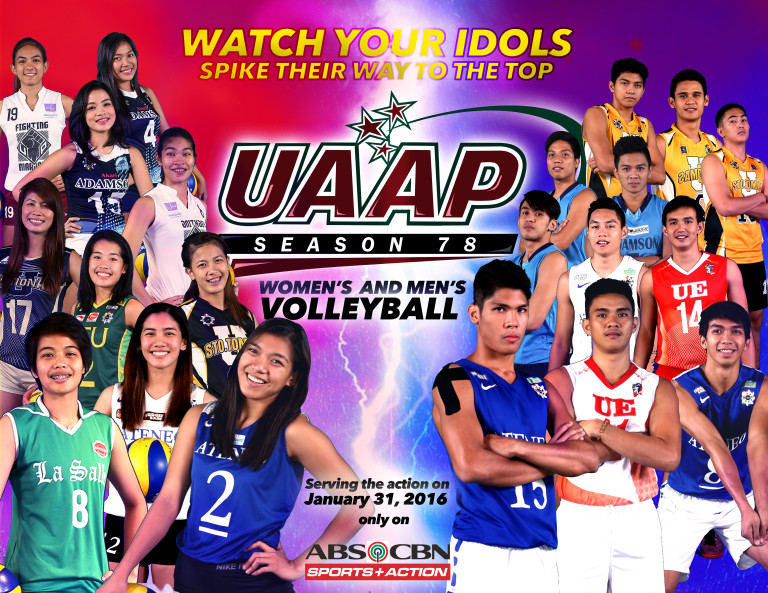 UAAP S78 Volleyball competition starts on January 31