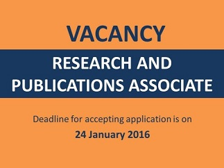 Vacancy Research and Publications Associate