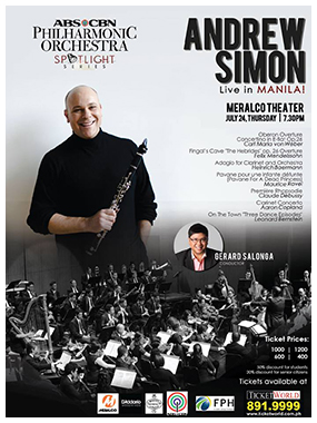 The ABS CBN Philharmonic Orchestra's Spotlight Series features Andrew Simon!