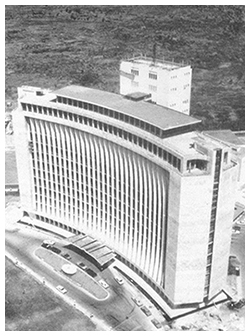 Aerial shot of the Meralco Building