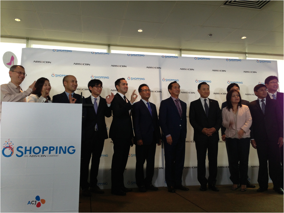 Clockwise from top: CJ O Shopping Global Business Development head Sean Kim, A CJ O Shopping Corp. COO John Kim, ABS-CBN Business Development head and A CJ O Shopping Corp. CFO Paolo Pineda, A CJ O Shopping Corp. CEO Eddie Bak, ABS-CBN chairman Eugenio Lopez III and CJ O Shopping CEO Harri Lee during the launch of the joint venture in 2013; The O Shopping team takes part in a workshop at ABS-CBN; At the company's first general assembly for 2017; Fostering stronger ties through a team building activity in Batangas; O Shopping has put up its own booth in KidZania
