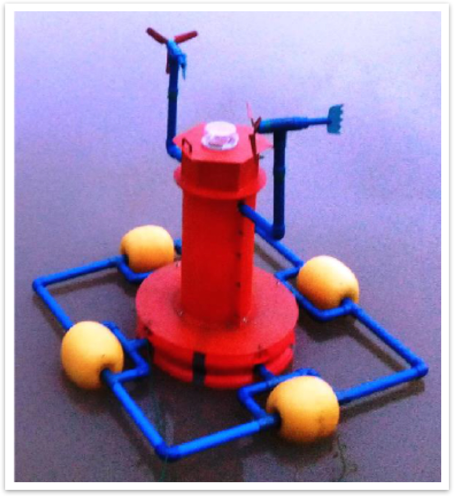 The prototype of the buoy developed by Polytechnic University of the Philippines students