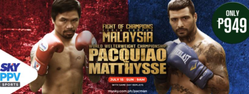 Pacquiao-Matthysse clash on SKY PPV