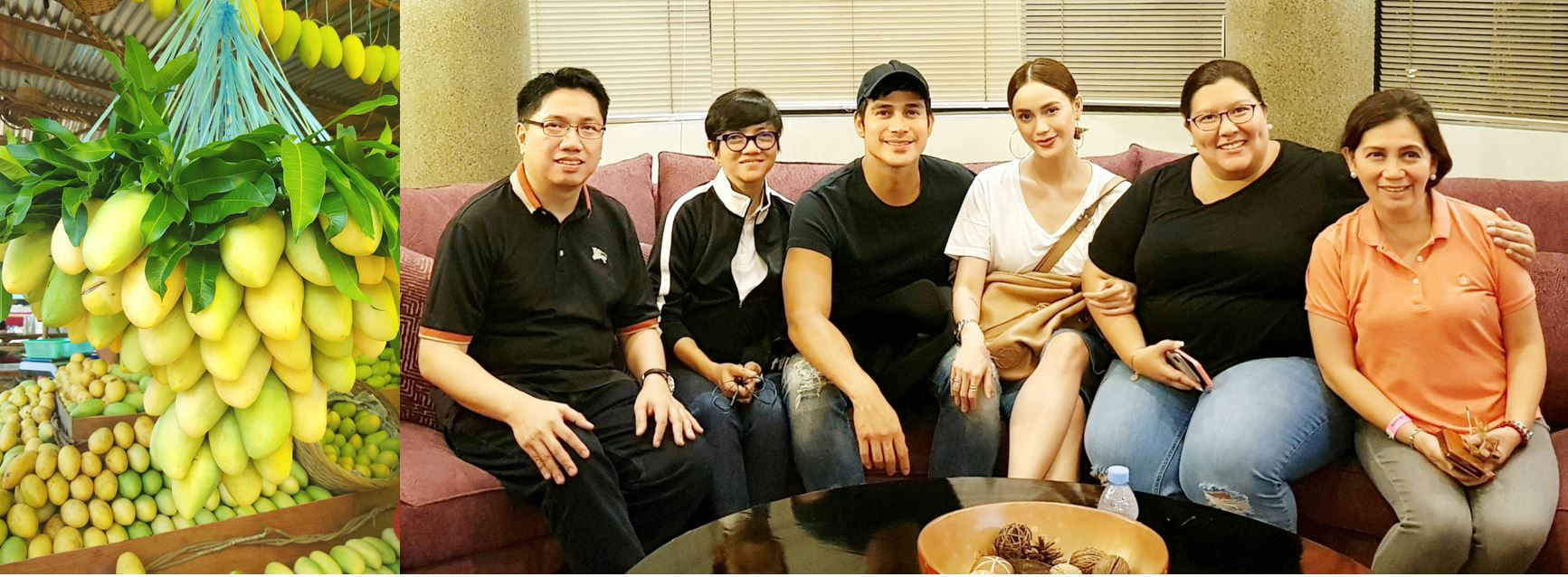 "Photo shows Jei-Jei Gertes (leftmost) and Cay Marbella (rightmost) of the Lopez Group with director Joyce Bernal, ""Since I Found You"" stars Piolo Pascual and Arci Muñoz, and Mikki Gonzales of ABS-CBN Regional."