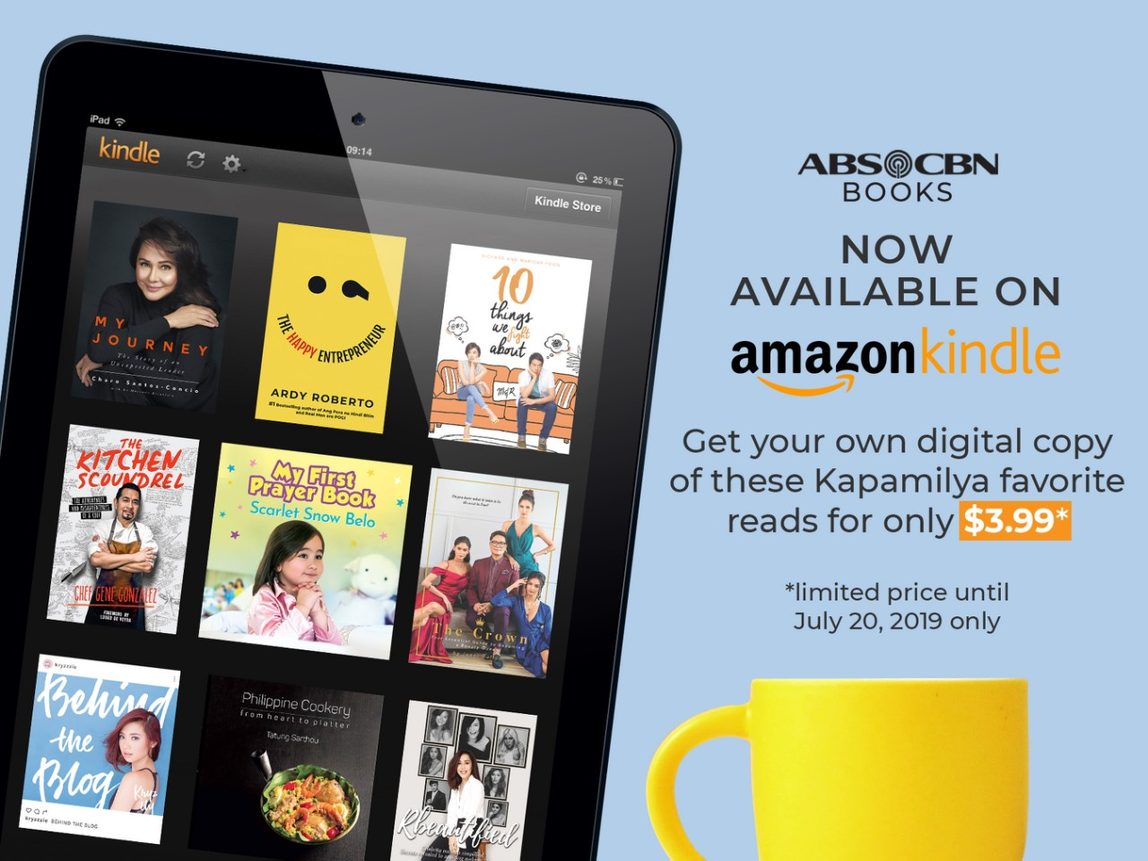 ABS-CBN Books are now on digital reading platform Amazon Kindle.